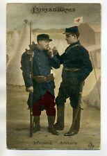 MILITARIA 1029 Guerre 1914 Poilus Freres d'Armes Infanterie et Artillerie