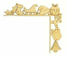 Laser Cut Tumbling Door Frame Decoration - Christmas Shapes