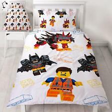 LEGO MOVIE 2 AWESOME SINGLE DUVET COVER SET REVERSIBLE KIDS BEDDING