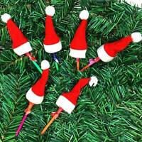 10Pcs/lot Mini Christmas Silverware Holder Xmas Tree Santa Claus Christmas Hats