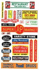 Store signs - Grocery - Restaurants - Banks DIORAMA'S  1/64th Scale