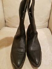 MASTERSON RB887 Women's Black Soft Leather Western Cowboy Boots Shoes Size 8.5