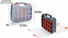 2 Sided Customizable Craft Storage Box Adjustable Dividers Carrying Case