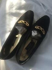Bally Flat Shoes Black And Gold Size 6 Ladies BNWT