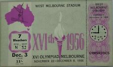 Melbourne Olympic Games 1956 Unused Gymnastics Ticket Dec 3