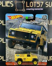 Hot Wheels 1:64 Land Rover Defender 110 HARD TOP SUPER w/Real Riders Premium