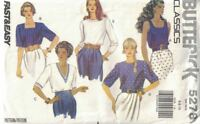 Misses & Petite Tops No Side Seams Pullover Narrow Hem Butterick 5278 Sz 6-10