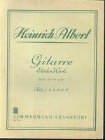Gitarre Etüden Werk  von Heinrich Albert Heft 1
