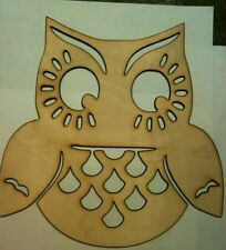 DIY Owl Bird Unfinished Wood Shapes Cut Out Crafts Owl decor plaque 4 Inch Lot 2