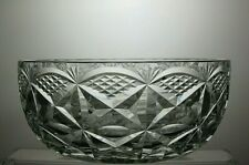 HAND CUT LEAD CRYSTAL FRUIT SALAD TRIFLE SERVING BOWL