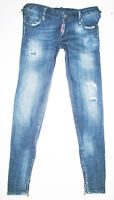 *HOT Women DSQUARED2 BIKER ULTRA Slim SKINNY STRETCH DISTRESS Jeans 36 EUR or 26