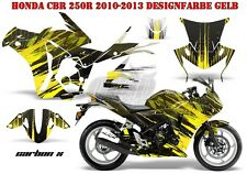 AMR RACING DEKOR GRAPHIC KIT HONDA CBR 250, 500R, 600RR, 1000RR CARBON-X B