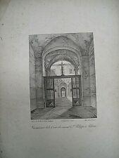 GRAVURE ANCIENNE - ITALIE SAINT PHILIPPE A PALERME LITHOGRAPHIE XIXème SIECLE