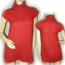 XHILARATION Red Orange Cable Knit Turtleneck Sweater Fall Cute Womens Sweaters S