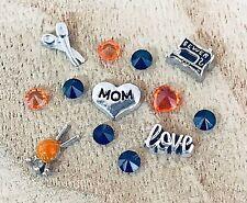 Floating Charms Knitting Sewing Mom Grandma 13pc fit Memory Owl Locket NEW!
