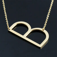 Jewelry For Women Gold Big Initial 26 Letters Pendants Necklace Stainless Steel