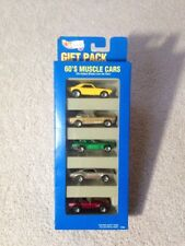 1995 Hot Wheels 60's Muscle Cars Gift Pack w/ Camaro Mustang Corvette Olds Cobra