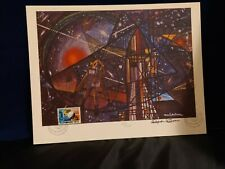 """VINTAGE WFUNA RAMON DE OLIVERA """"MAN'S NEW FRONTIERS"""" w/FDC SIGNED"""