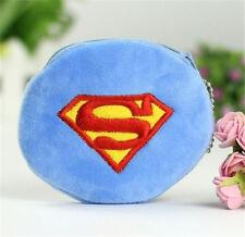 Cartoon Blue Superman Children Boy Girl Plush Coin Wallets Purse Gift☆
