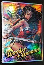 New! WONDER WOMAN DC Comics Superhero Gal Gadot METAL SIGN Reflective Shimmery