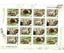 SPECIAL LOT WWF Afghanistan 2004 - Musk Deer - 5 Sheets of 16 - MNH