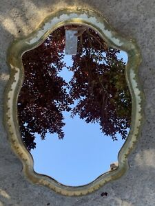 Vintage MIRROR ITALY Fomerz ORNATE Wall ITALIAN Floral FLORENTINE Wood Frame