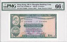 Hong Kong, 1983 10 Dollars P182j PMG 66 EPQ