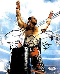 WWE SHAWN MICHAELS HAND SIGNED AUTOGRAPHED 8X10 PHOTO WITH PSA DNA COA 1 HBK