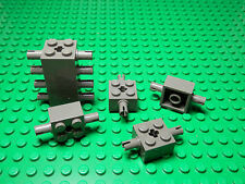 Lego Lote De 12 Cinza Escuro 1x2 Peças Tijolo Grill