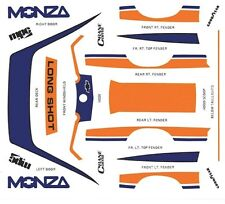 1980 Chevrolet Monza Longshot 1/64th Ho Scale Slot Car Waterslide Decals