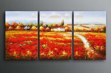 Framed Oil Painting Palette Knife European Tuscane landscape - Ready For Hung
