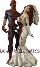 MARVEL MILESTONES ZOMBIES SPIDER-MAN & MARY JANE WEDDING STATUE MIB!! #679/2500