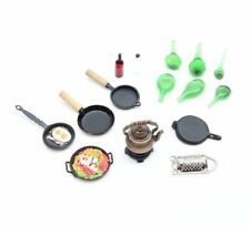 NEW 1:12 Scale Dolls House Miniatures Kitchen Cooking Implements Accessories Set