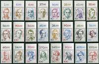 Bund Frauen Oberrand komplett postfrisch alle 24 Stück OR aus Groß - Bogen MNH