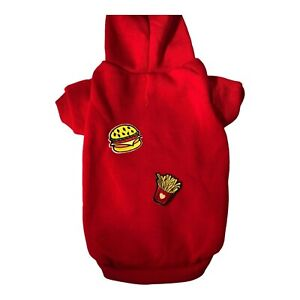 Sweatshirt with fast food patches size M