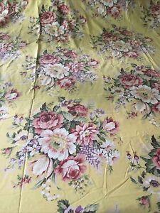 Vintage RALPH LAUREN Sophie Brooke KING Flat Sheet Beautiful