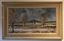 Original Irish Art Oil On Board Painting Fields of Athenry Co Galway A Fawcett