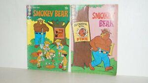 Lot of 2 1970 No. 2 & 3 SMOKEY BEAR Gold Key 15 Cents Comic Books