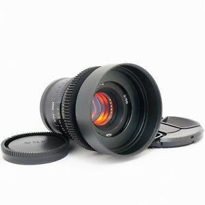 Helios 44M4 58mm F2 Amber Anamorphic flare & Bokeh cine lens for Sony E