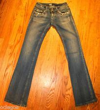 MISS ME Jeans  SZ 25 X 33 MINI BOOT CUT BLING HEART JEWELED FLAP POCKET