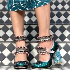 Irregular Choice 'New Rules' (A) Green High Heel Shoes