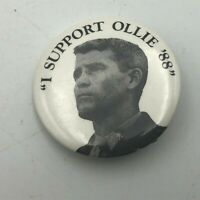 "1988 I Support Ollie Oliver North 1-1/4"" Button Pin Pinback Iran Contra Vtg Q8"