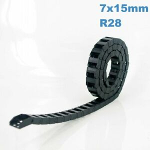 7x15mm R28 Nylon Energy Drag Chain Cable Wire Carrier CNC Router 3D Printer Mill