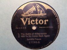 VICTOR 78 RECORD 17140/SUTCLIFFE TROUPE/SCOTCH MEDLEY/BATTLE KILLECRANKIE/ EX