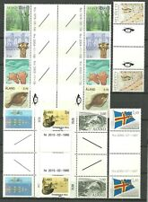 ALAND Åland Islands Gutter Pairs MNH lot 9x2