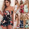 Boho Women's Beach Bandeau Strapless Playsuit Summer Ladies Mini Dress Jumpsuit