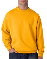 Jerzees Men's Super Sweats Crew Neck Solid Long Sleeve Sweatshirt 4662