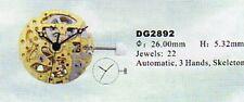 DG2892  MOVIMENTO MECCANICO AUTOMATICO Skeleton Watch Movement DG2892 Skeleton