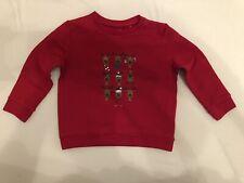 JBC Jungen Baby Kinder Pullover Rot mit Rentier Druck Größe 86 Biobaumwolle