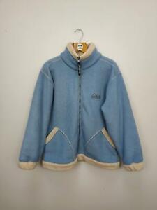 Vintage Arctic Storm Chunky Deep Pile Borg Lined Full Zip Fleece - Medium - Blue